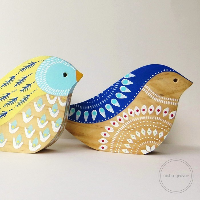 3D wooden birds (2) Square