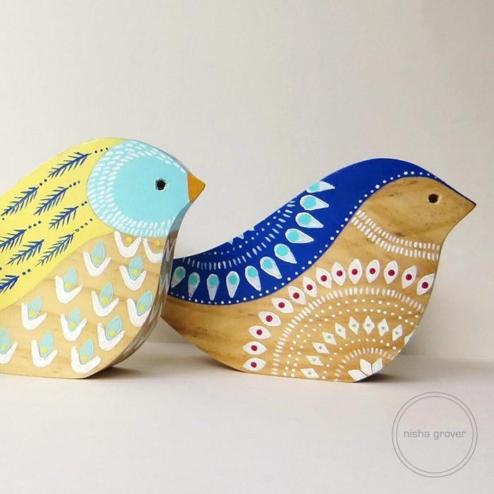 3D Wooden Birds