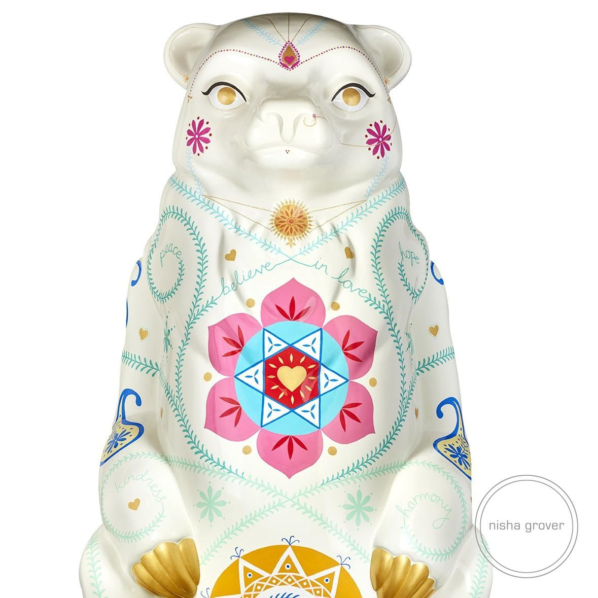 'India' Bear for The Big Sleuth Art Trail Birmingham