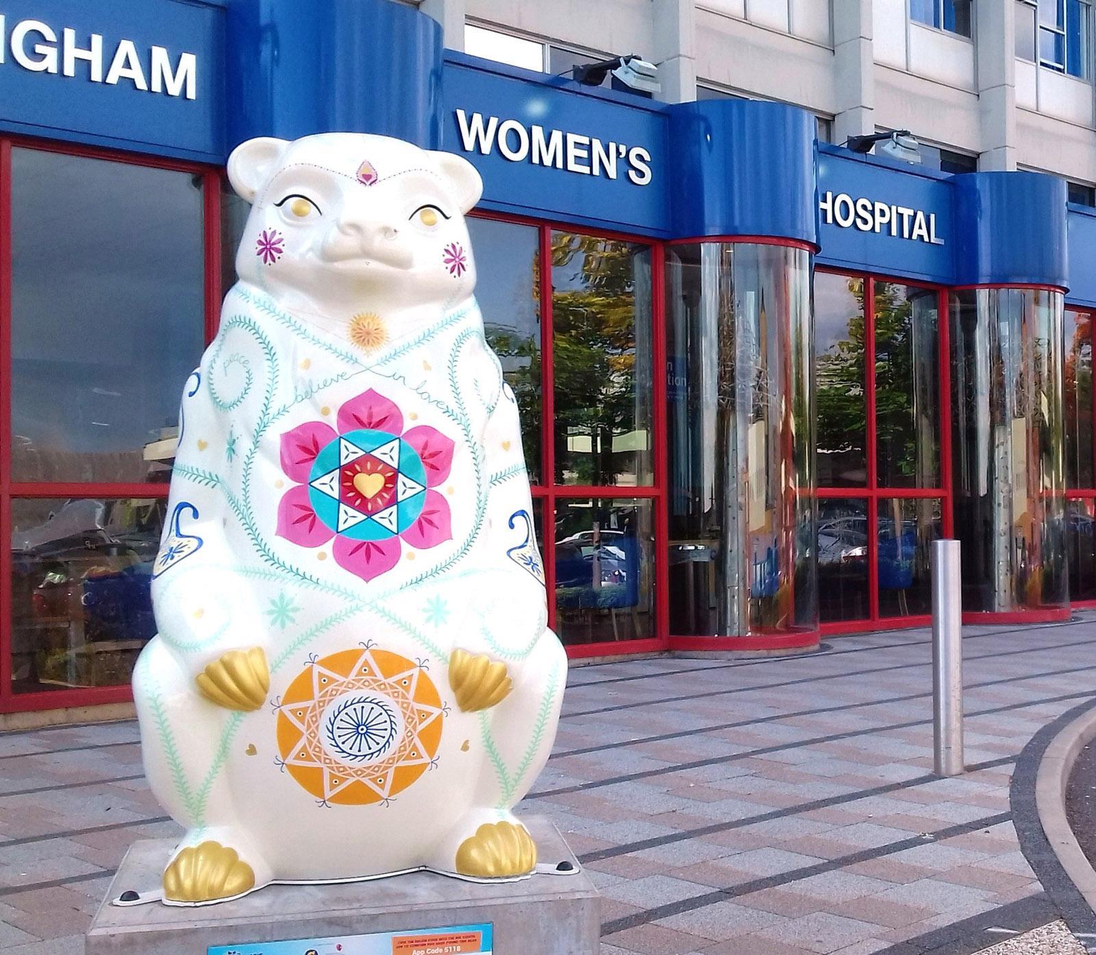 'India' Bear for The Big Sleuth Art Trail Birmingham