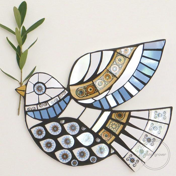 Peace dove mosaic