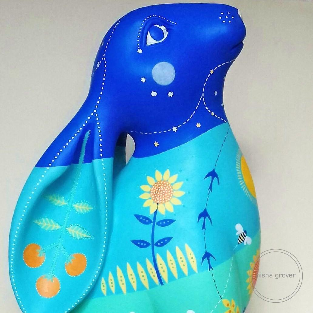 'Summer's Joy' Hare for The Cotswolds AONB Hare Trail